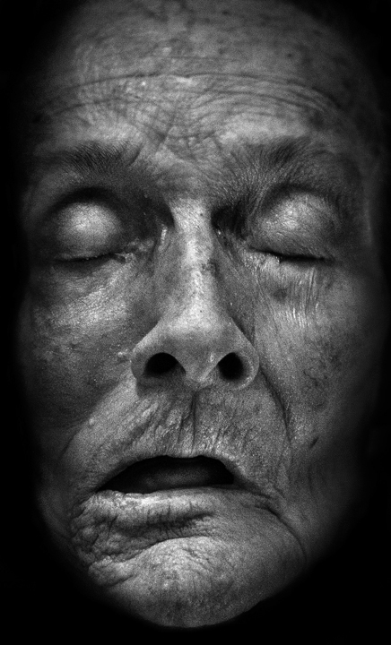 Jonathan Hobin  Hobin  Lullabies  Deathbed  old  Elderly  wrinkles  ALUMINUM  Ottawa  Gallery  life-size  Little Lady  Little Man little lady make little man you've had a busy black and white  Photography  portrait  Karsh