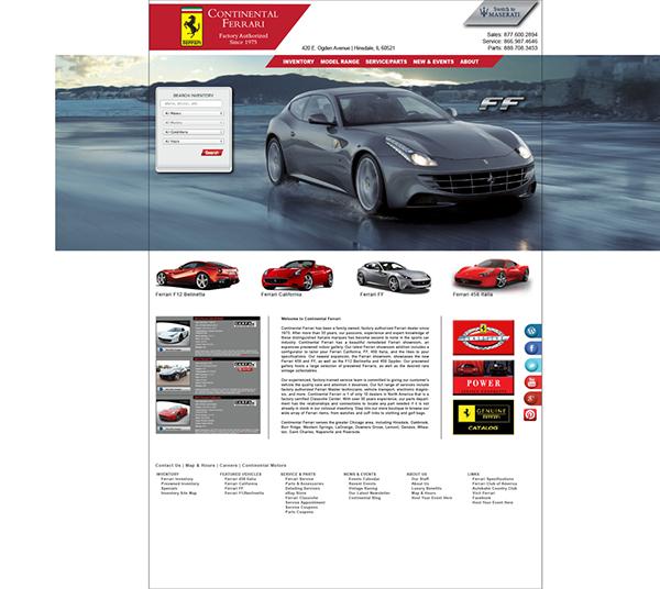 Auto Website Layouts - Web Design on Behance