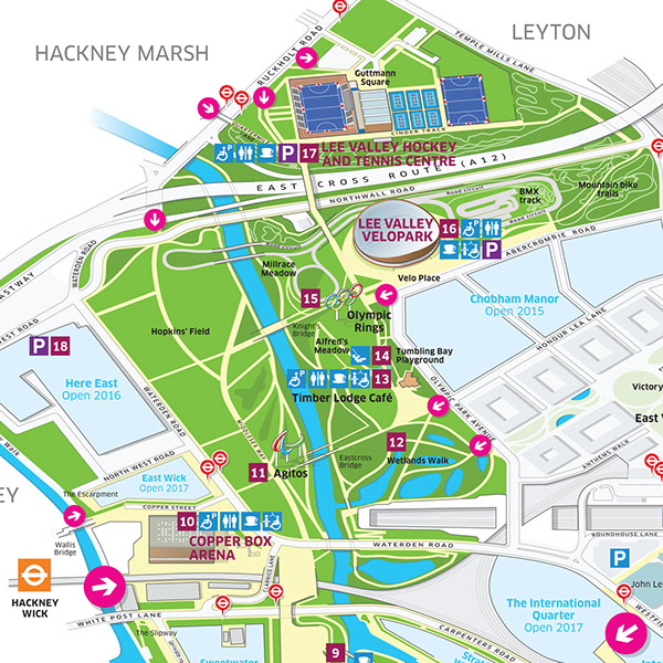 Queen Elizabeth Olympic Park Map Queen Elizabeth Olympic Park visitor map on WaGallery Queen Elizabeth Olympic Park Map