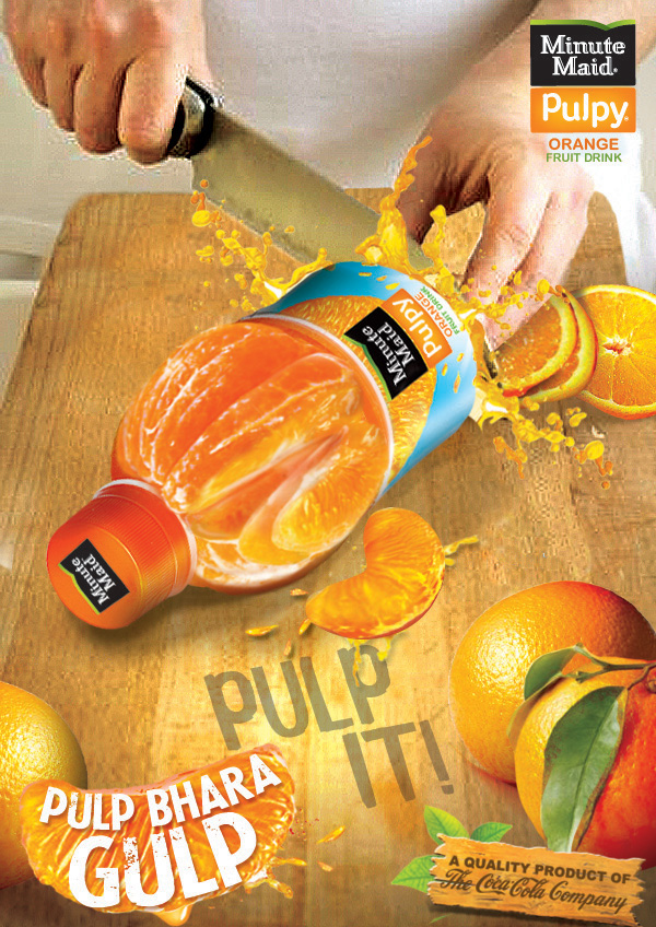 Minute Maid Pulpy Orange 2011 & 2012 on Behance