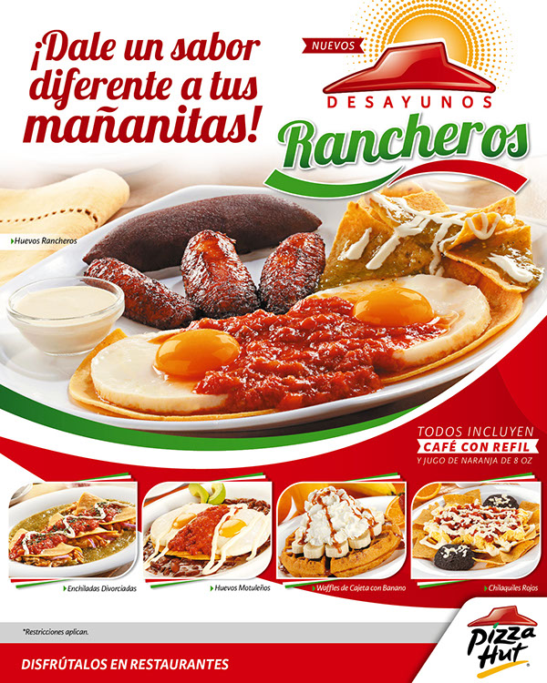 Desayunos rancheros pizza hut on behance for Oficinas de pizza hut