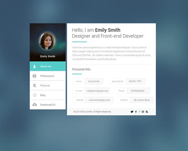 Web developer Portfolio on Behance