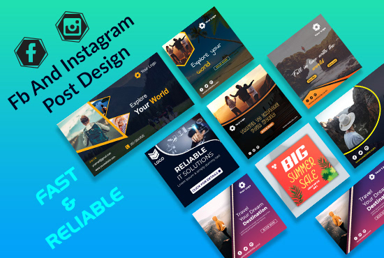 Travelling Social Media Post Design On Student Show