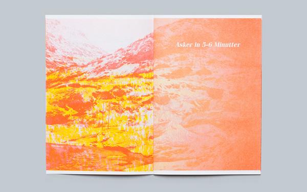 risograph printmaking norway Norge train Landscape Nature beauty