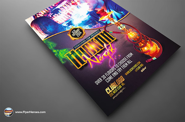 TheHookah Lounge Flyer Template Is Fully Editable Photoshop PSDs. Once You  Have Downloaded This Template, Using Adobe Photoshop CS4+ You Can Make Use  Of ...