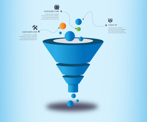 3d funnel for business presentation | modern design on behance, Modern powerpoint
