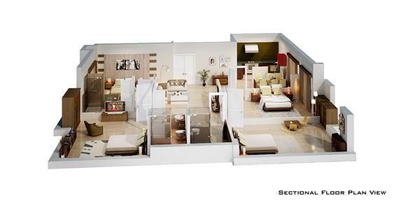 isometric floor plan render in 3d on behance