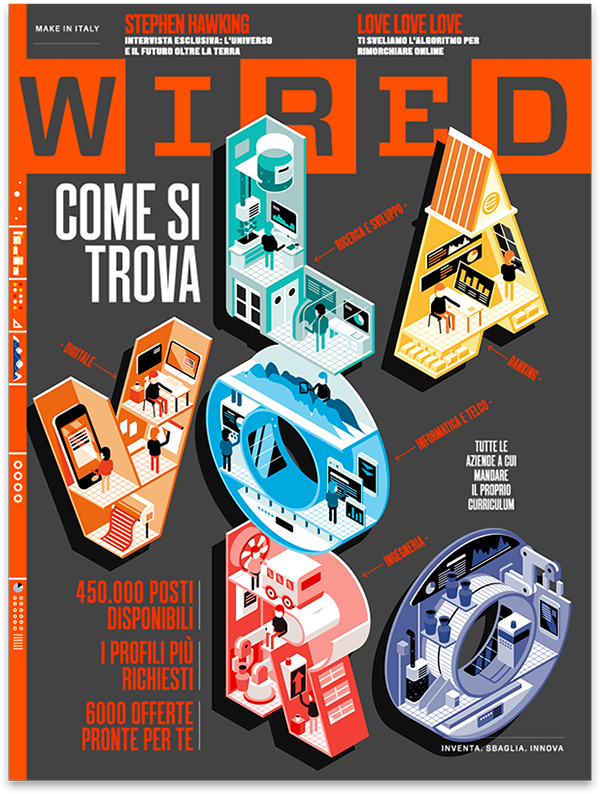 Wired cover job Isometric letters MoGraph motiongraphics gif flat 3D