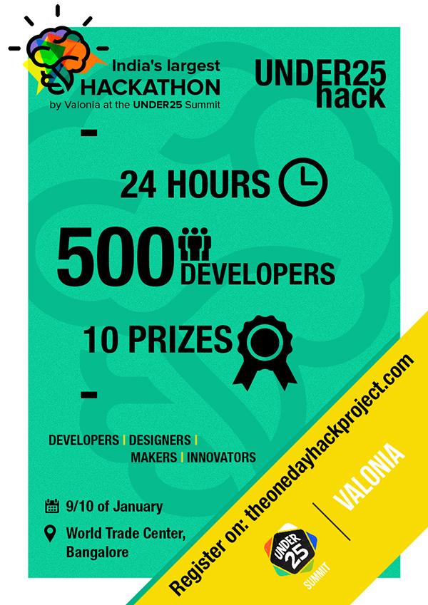 india 39 s largest hackathon logo and poster creation on behance. Black Bedroom Furniture Sets. Home Design Ideas