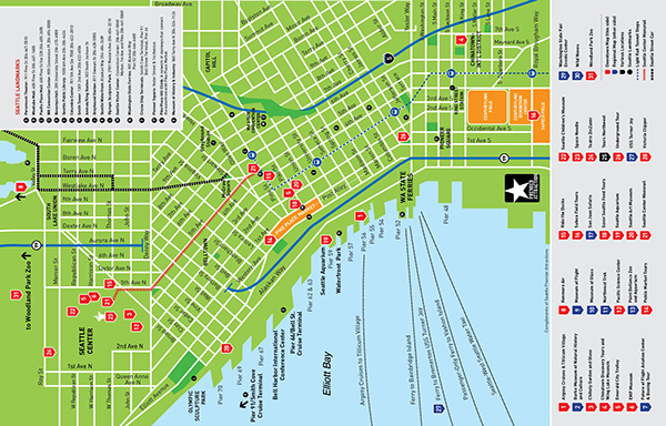 Puget Sound Attractions Council Concierge Map on Behance