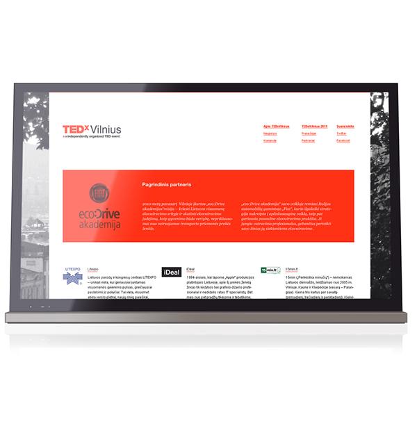 TEDx TED minimal tedxvilnius redesign White red type