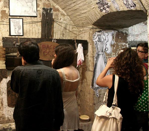 Funboy InstallationArt sculpture Totem cross BackSoon dark darkart Funboyartworks funboyartworks.it crack 2011 crackfestival POSTATOMICART