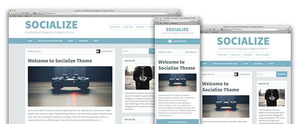 Socialize WordPress Theme - Design Process