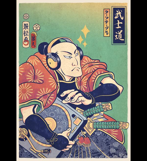 Turntable Samurai by Kris Miklos