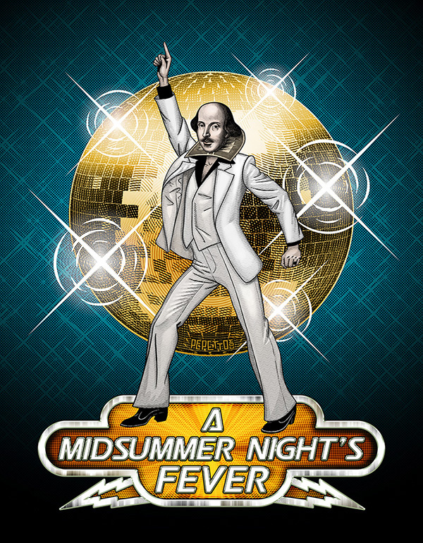 shakespeare travolta literature disco DANCE   culture surrealism pop humor crazy nerd mushup collage vintage Retro