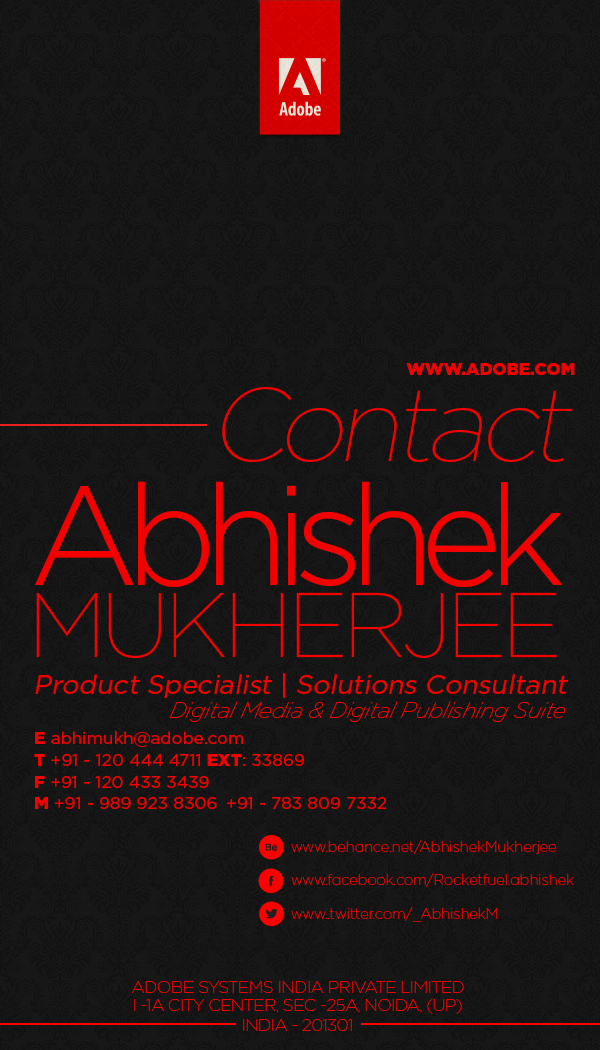 Business Card Design - Adobe Systems on Behance
