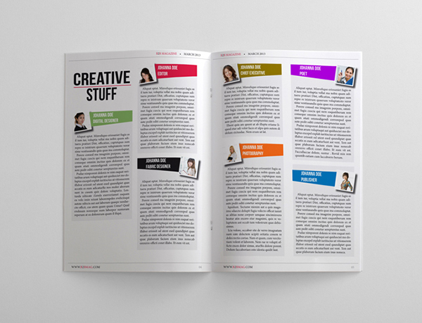 gallery elegant template magazine pages