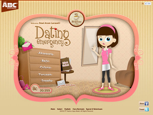 Web dating game