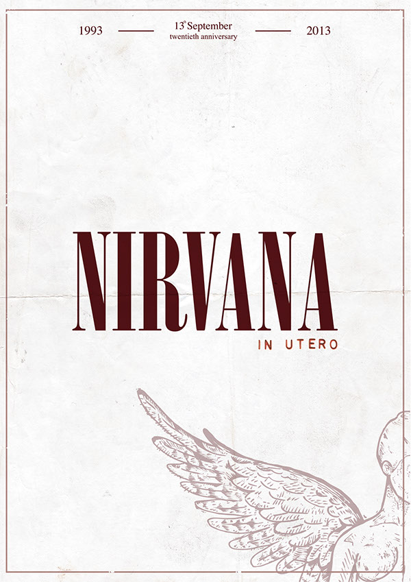 Poster NIRVANA IN UTERO ANNIVERSARY On Behance