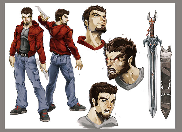 Comic Book Character Design : Night wolf comic character design on behance