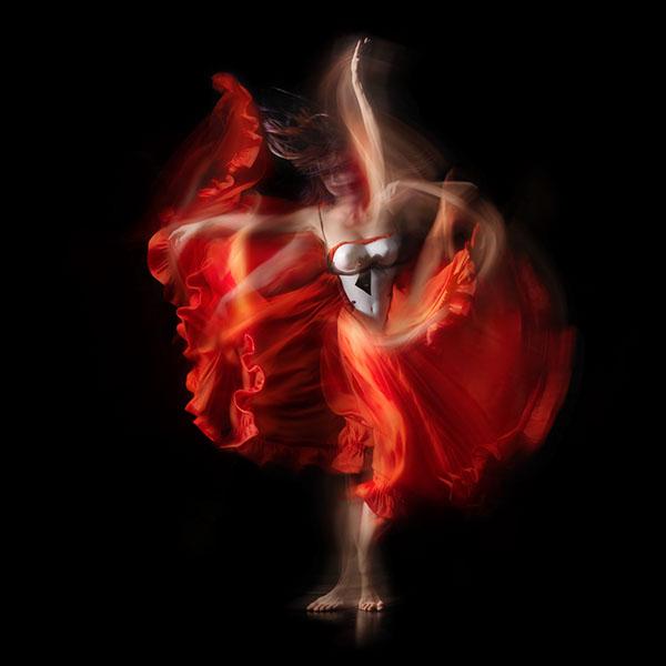 dancing calligraphy