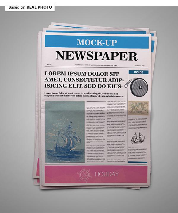 Newspaper Mock-Up on Behance