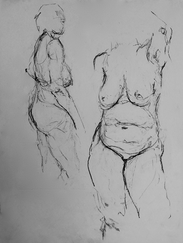 Quick Charcoal Drawings On Behance