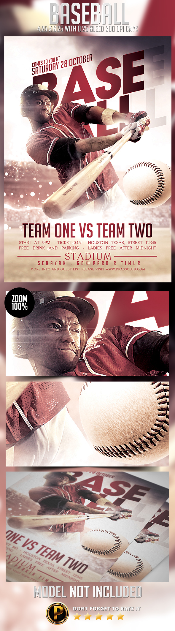 baseball flyer template on behance