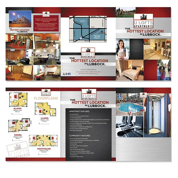 ulofts tri fold folder design on behance