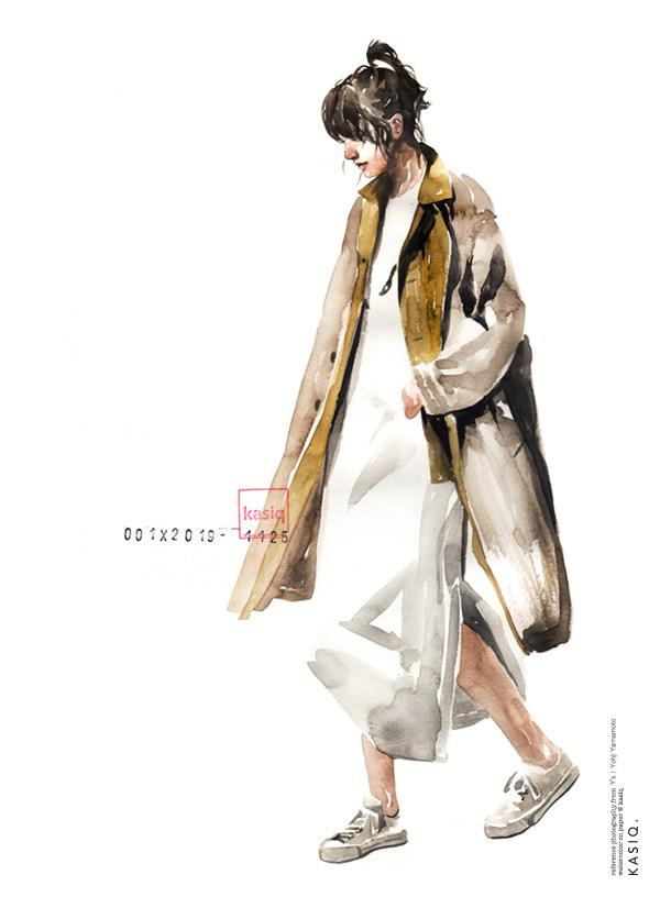 kasiq Drawing  Fashion  watercolor ILLUSTRATION  이정우 가식정우 fashion illustration fashion drawing brush