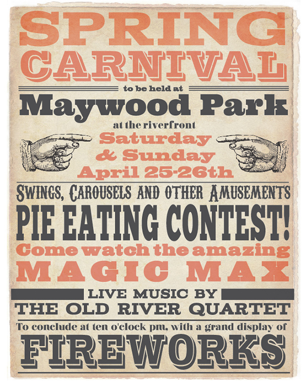 Victorian Typography Poster on Behance