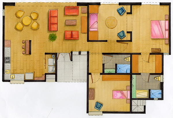 Floor plan Elevation Markers and Color Pencil on Behance