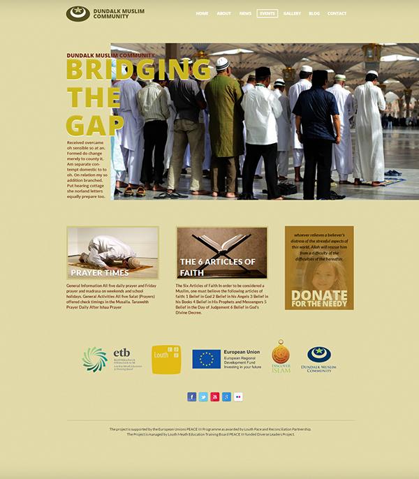 design muslim development clean minimal