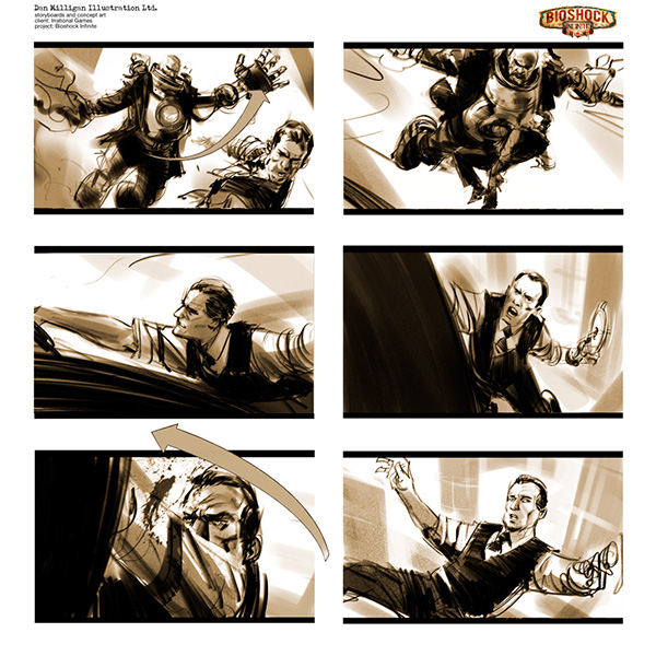 BioShock Infinite Storyboards On Behance