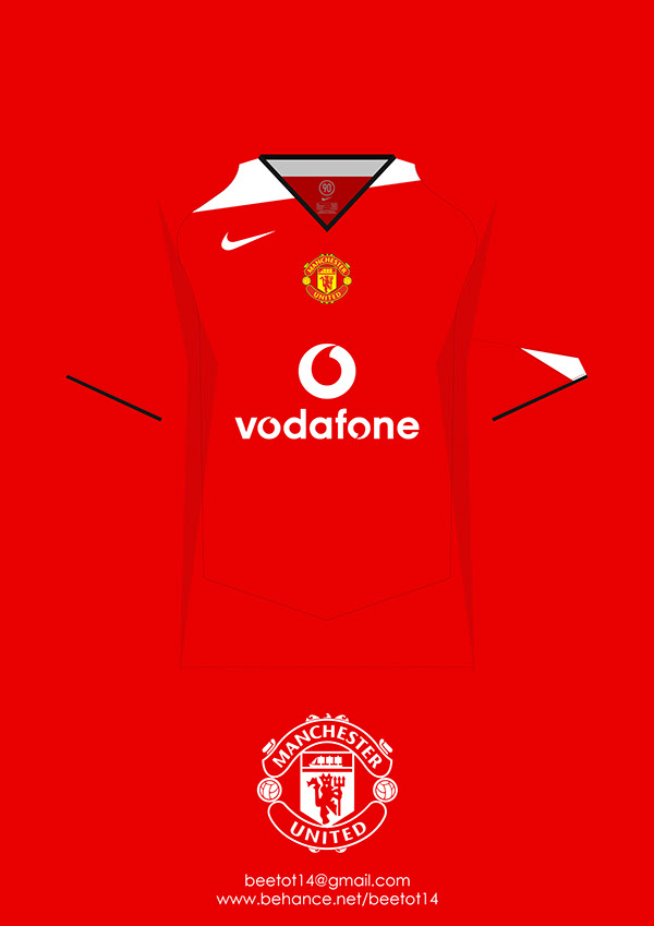 super popular a509c f8382 Manchester United 2005-2014 Kit Collection on Behance