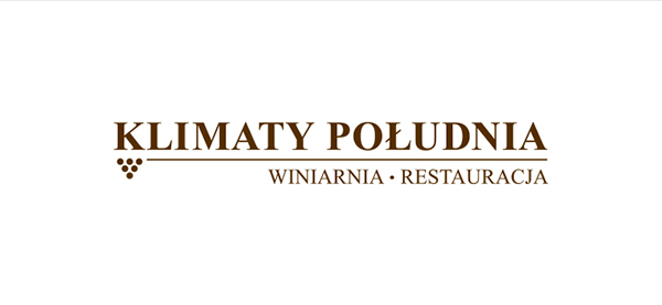 klimaty południa restaurant winery grape businesscard identity CI Roll-Up menu brown beige paper Food  wine inwitation