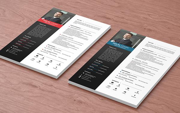 有設計感的30個簡歷表範本欣賞
