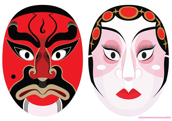 Chinese Opera Masks On Behance