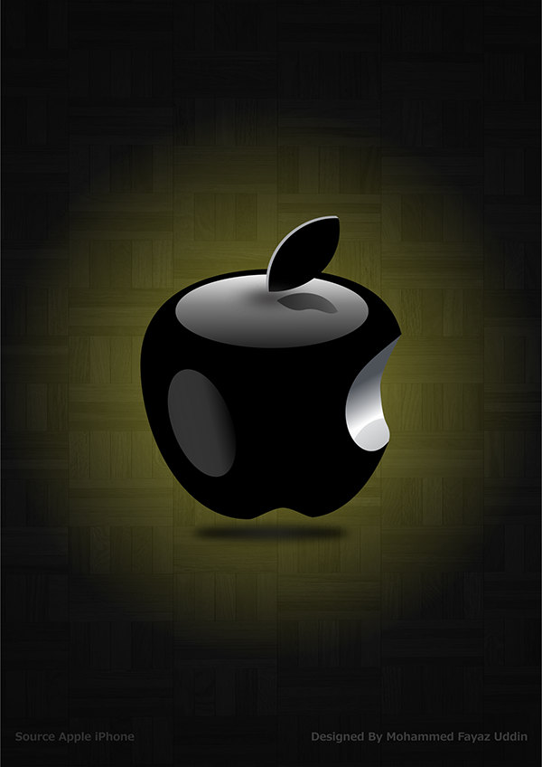 3D Apple Logo HD Wallpaper Design For iPhone u0026 Android on Wacom