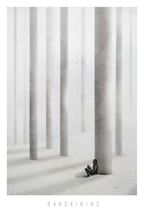 amir belhoula alone cosmosnail grief minimalist dark SUREAL girl Landscape