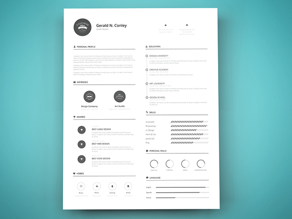 Freebie print ready resume template on behance pronofoot35fo Images