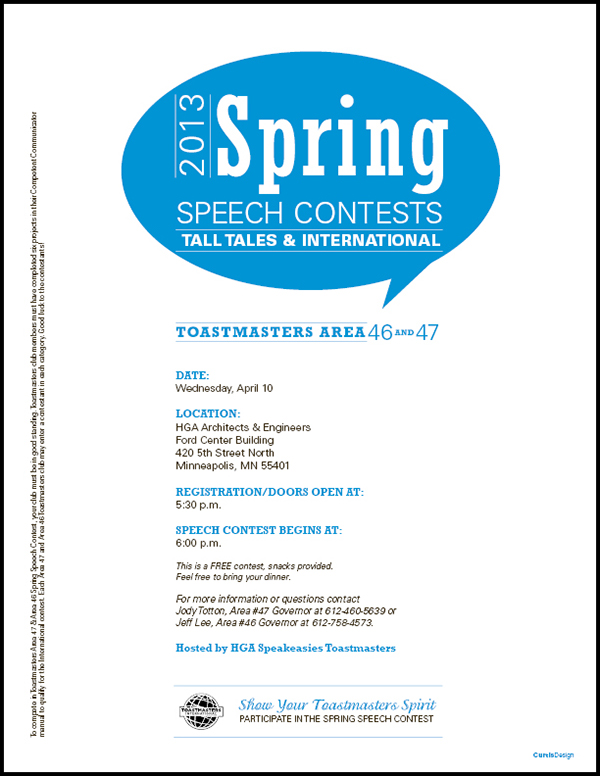 toastmasters speech contest flyers on behance