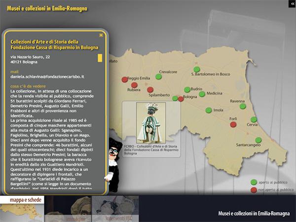Flash Actionscript Layout DvdRom Istituto Beni Culturali bologna emilia-romagna burattini marionette