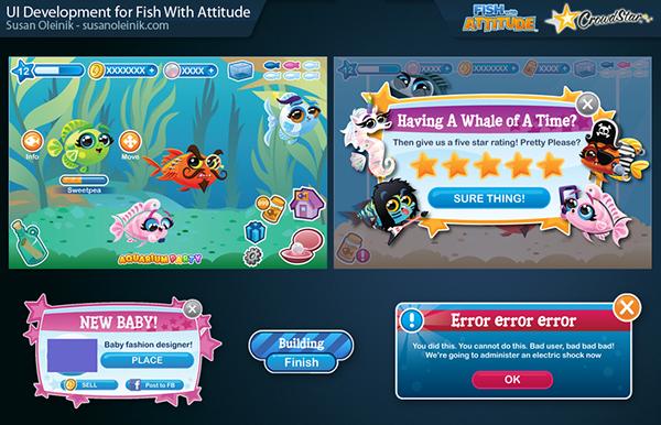Fish with attitude ui development on behance for Fish breeding games