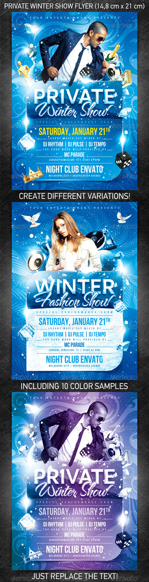 private winter show flyer psd template on behance