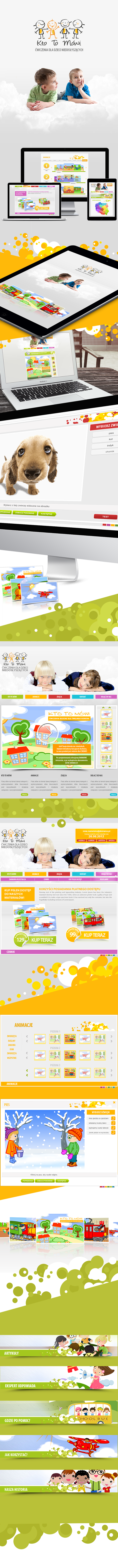 Mobile Page tablet page www Website cartoon kids illustrations