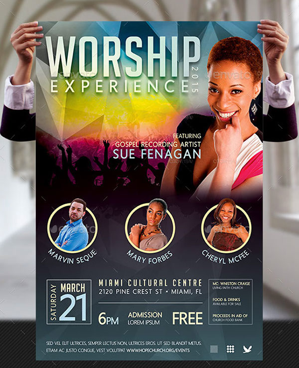 worship concert poster templates on behance