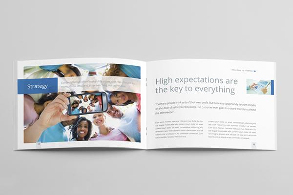 horizontal brochure template - strategic horizontal brochure on behance