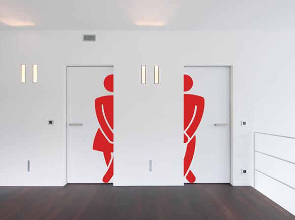 Commercial Bathroom Door Sticker