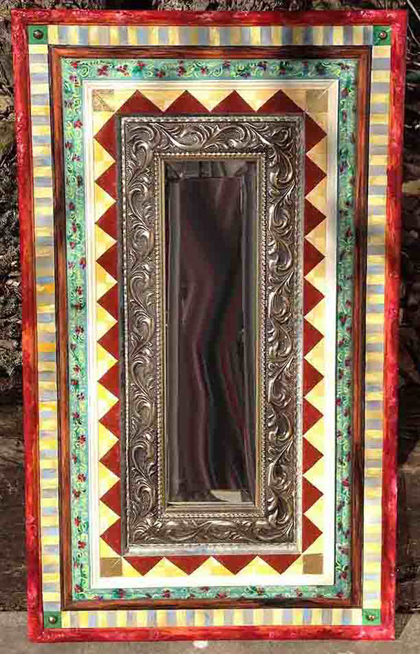 tall and thin hand painted mirror on behance